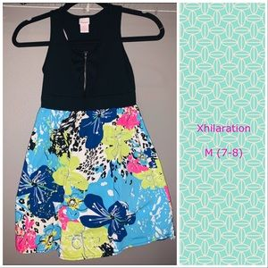 Xhilaration Dress with ruffles and zipper detail